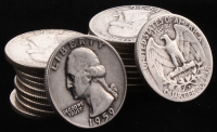 Lot of (20) 1946-1964 Washington Silver Quarters