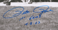 "Pete Rose Signed Cincinnati Reds 30x40 Poster Inscribed ""1st Game"" & ""4-8-65"" (OA Hologram) at PristineAuction.com"