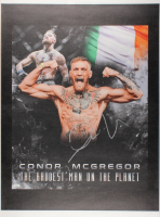 Conor McGregor Signed 24x34 Photo on Canvas (JSA COA)