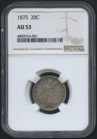1875 20¢ Seated Liberty Twenty Cent Piece (NGC AU 53)