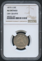 1875-S 20¢ Seated Liberty Twenty Cent Piece (NGC AU Details)