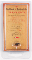 Authentic Coal From Titanic Wreckage with Display Case (RMS Titanic COA)