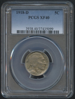 1918-D 5¢ Buffalo Nickel (PCGS XF 40) at PristineAuction.com