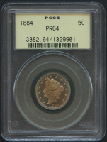 "1884 5¢ Liberty Head ""V"" Nickel - Proof (PCGS PF 64)"