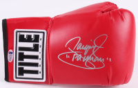 """Manny Pacquiao Signed Title Boxing Glove Inscribed """"Pacman"""" (Beckett COA)"""