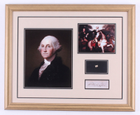 George Washington 18x22 Custom Framed Cut Display with (1) Hand-Written Word from Letter (JSA LOA Copy)