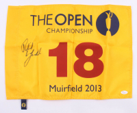 Phil Mickelson Signed The Open Golf Pin Flag (JSA LOA)