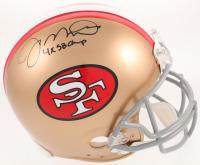 "Joe Montana Signed San Francisco 49ers Full-Size Authentic On-Field Helmet Inscribed ""4x SB Champ"" (Radtke COA) at PristineAuction.com"