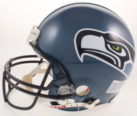 "Marshawn Lynch Signed Seattle Seahawks Throwback Full-Size Authentic On-Field Helmet Inscribed ""Go Hawks"" (PSA COA) at PristineAuction.com"
