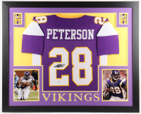 Adrian Peterson Signed Minnesota Vikings 35x43 Custom Framed Jersey (Beckett Hologram) at PristineAuction.com