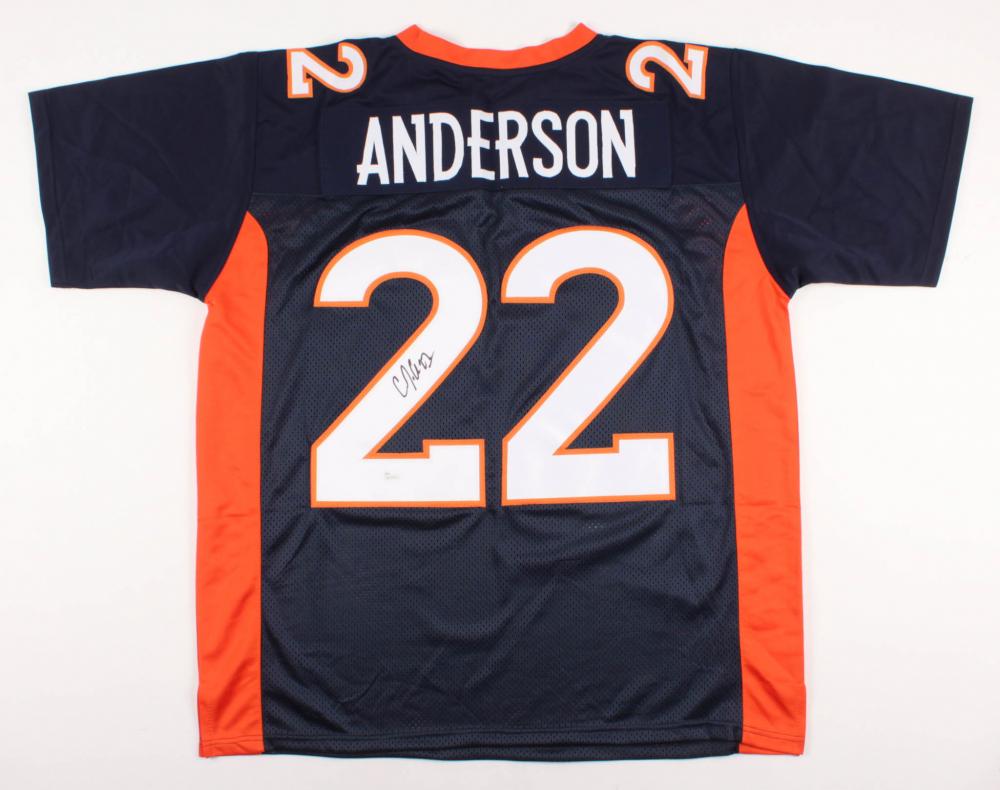 C.J. Anderson Signed Denver Broncos Jersey (JSA COA) | Pristine ...