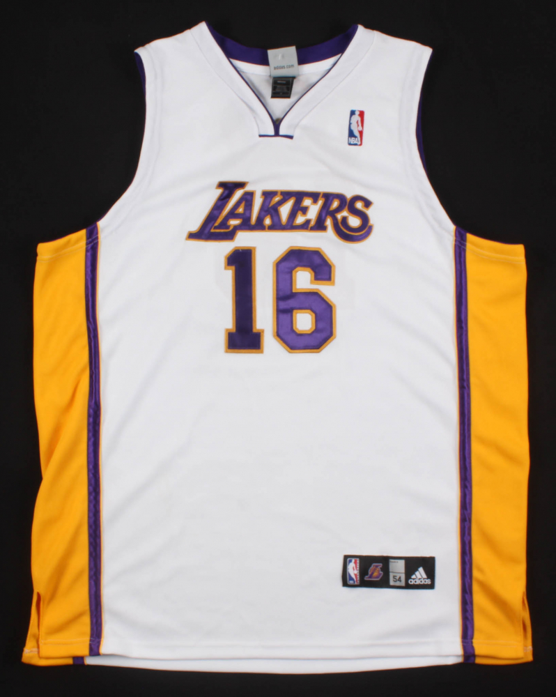 Pau Gasol Signed Los Angeles Lakers Jersey Inscribed