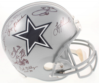 "Dallas Cowboys Greats Team-Signed Full-Size Helmet with (23) Signatures Including Roger Staubach, Troy Aikman, Michael Irvin, Emmitt Smith, Randy White, Ed ""Too Tall"" Jones (Radtke Hologram, Prova Hologram, & Aikman Hologram)"