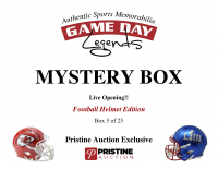 Game Day Legends Mystery Box Full-Size Helmet Edition -Tom Brady (x3), Peyton Manning, Patrick Mahomes & More - Live Box Break #5/25