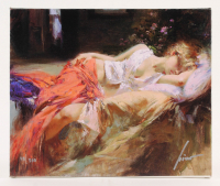 "Pino Daeni Signed ""Day Dream"" 10x12 Limited Edition Giclee on Canvas at PristineAuction.com"