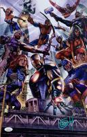 "Greg Horn Signed Marvel ""Avengers Big City"" 11x17 Lithograph (JSA COA)"