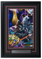 "Greg Horn Signed ""Marvel Secret Wars: Villains"" 17x25 Custom Framed Lithograph Display (JSA COA)"