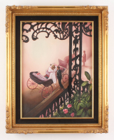"Crystal Skelley Signed ""French Quarters"" 16.5x20.5 Custom Framed Original Painting on Canvas Display"