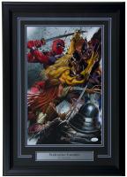 """Greg Horn Signed """"Wolverine Enemies"""" 17x25 Custom Framed Lithograph (JSA COA)"""