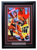"""Greg Horn Signed """"Star Wars Luke Skywalker"""" 20x26 Custom Framed Lithograph Display (JSA COA)"""