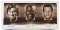 "Wayne Gretzky, Michael Jordan & Tom Brady Signed ""Faces of Sports"" 24x48 Limited Edition Photo (UDA COA) at PristineAuction.com"