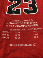 Michael Jordan Signed Set of (3) Chicago Bulls Limited Edition Career Highlight Stat Jereys (UDA COA) at PristineAuction.com
