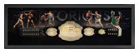 Conor McGregor Signed 24x64 Custom Framed UFC Championship Belt Display (Fanatics Hologram) at PristineAuction.com