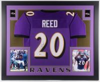 Ed Reed Signed Baltimore Ravens 35x43 Custom Framed Jersey (Beckett COA)