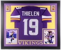 Adam Thielen Signed Minnesota Vikings 35x43 Custom Framed Jersey (Beckett COA)