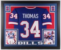 Thurman Thomas Signed Buffalo Bills 35x43 Custom Framed Jersey (JSA Hologram)