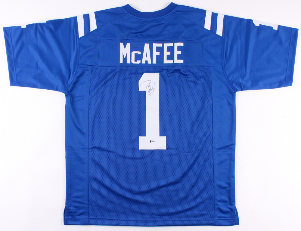 Pat McAfee Signed Indianapolis Colts Jersey (Beckett COA ...