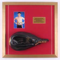Julio César Chávez Signed 20x20 Custom Framed Speed Bag Display (JSA Hologram)