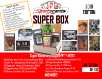 """Super Box 2019"" Mystery Sports Cards Box! 25+ Items Per Box! JAM PACKED!"