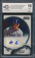 2011 Bowman Sterling Rookie Autographs #4 Anthony Rizzo RC (BCCG 10)