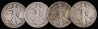 Lot of (4) Walking Liberty Silver Half-Dollars with 1934, 1935, 1936-D, & 1937