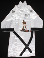 Muhammad Ali Signed Everlast Boxing Robe with Original Hand-Painted Art of Ali over Liston (JSA LOA)