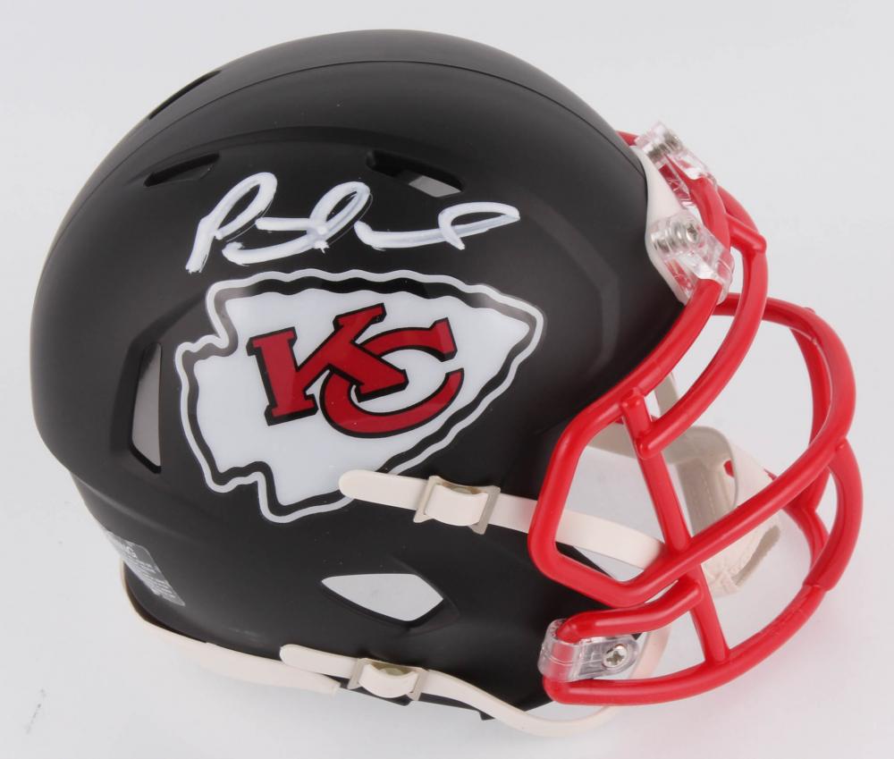 9c67aee2337a3 Patrick Mahomes Signed Kansas City Chiefs Matte Black Speed Mini Helmet (JSA  COA) at
