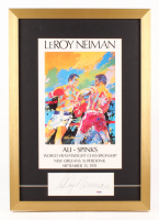 "LeRoy Neiman Signed ""Muhammad Ali vs. George Foreman"" World Heavyweight Championship 17x24 Custom Framed Cut Display (PSA COA)"