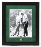 Arnold Palmer & Jack Nicklaus 13x15 Custom Framed Photo Display With Masters Pin