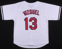 """Omar Vizquel Signed Jersey Inscribed """"11X Gold Glove"""" & """"Indians Hall of Fame 2014"""" (Beckett COA) at PristineAuction.com"""
