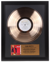 "Tom Petty Framed 16x20 Gold Plated ""Damn the Torpedoes"" Record Album Award Display"