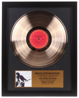 "Bruce Springsteen Framed 16x20 Gold Plated ""Born to Run"" Record Album Award Display"