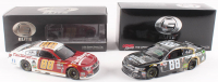 Lot of (2) Dale Earnhardt Jr. LE 1:24 Scale Die-Cast Cars with (1) Signed #88 Nationwide Justice League 2017 SS & (1) #88 TaxSlayer 2016 SS