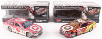 Lot of (2) Kyle Larson Signed LE 1:24 Scale Die-Cast Cars with (1) #42 Target Michigan Win 2017 SS & (1) #42 Target Michigan Fall Win 2017 SS
