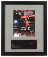 Michael Jordan Chicago Bulls 16x19 Custom Framed Photo Display with Film