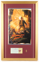 """Disneyland """"Indiana Jones Adventure: Temple of the Forbidden Eye"""" 17x27 Custom Framed Poster Print with Ticket Booklet & Coin"""