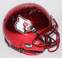 """Lamar Jackson Signed Louisville Cardinals Full-Size Authentic On-Field Chrome Helmet Inscribed """"HT '16"""" (Schwartz Sports COA) at PristineAuction.com"""