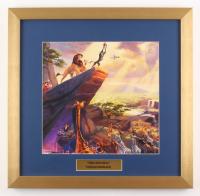 "Thomas Kinkade Walt Disney's ""The Lion King"" 17.5x18 Custom Framed Print"