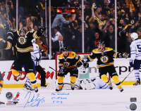 "Patrice Bergeron Signed Boston Bruins 16x20 Limited Edition Photo Inscribed ""The Comeback"" & ""GT + GWG 5-13-13"" (Bergeron COA)"