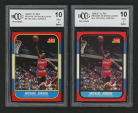 Lot of (2) BCCG Graded 10 Michael Jordan Basketball Cards with 1996-97 Fleer Decade of Excellence #4 & 1996-97 Ultra Decade of Excellence #U4